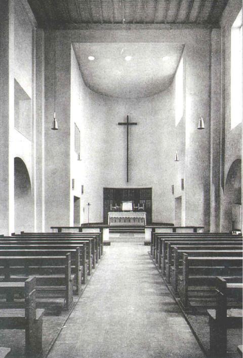 Kirche um 1954